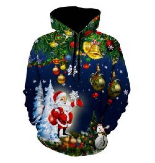 Kersttrui model Winter Claus 3D