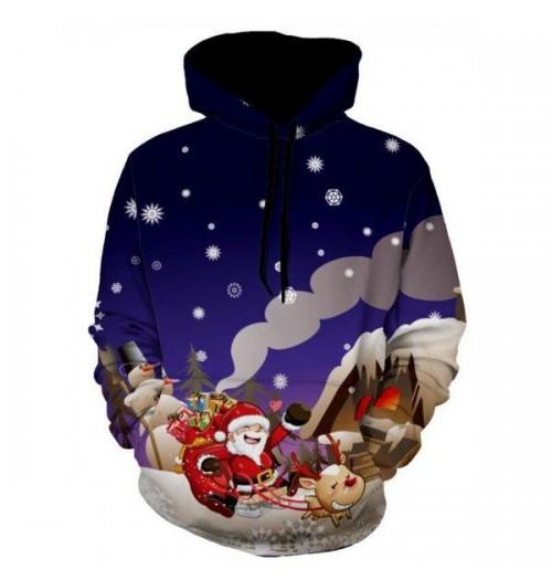Kersttrui model Santa Claus Reindeer 3D
