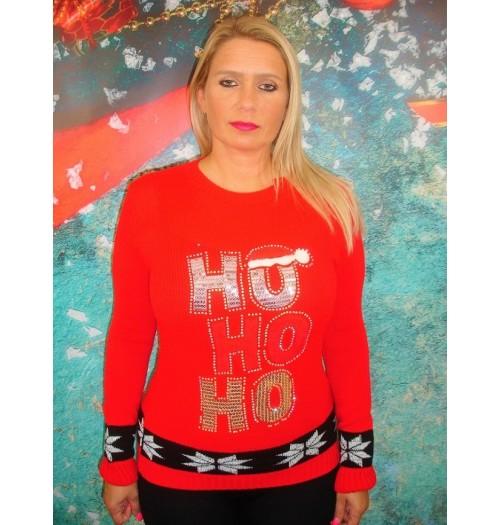Kersttrui model Ho Ho Ho