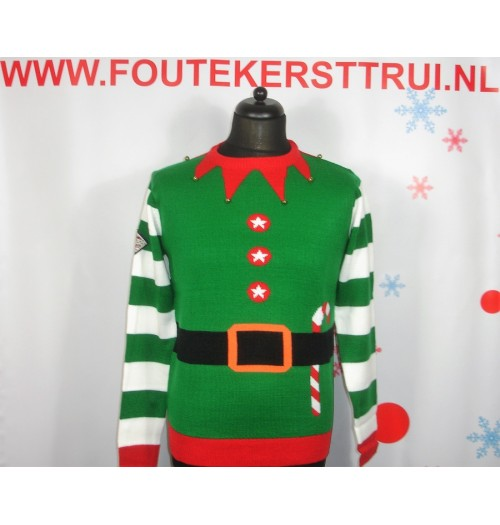 Kersttrui model Elf Jacket groen