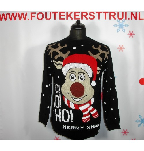 Kersttrui model Ho Ho Ho Happy