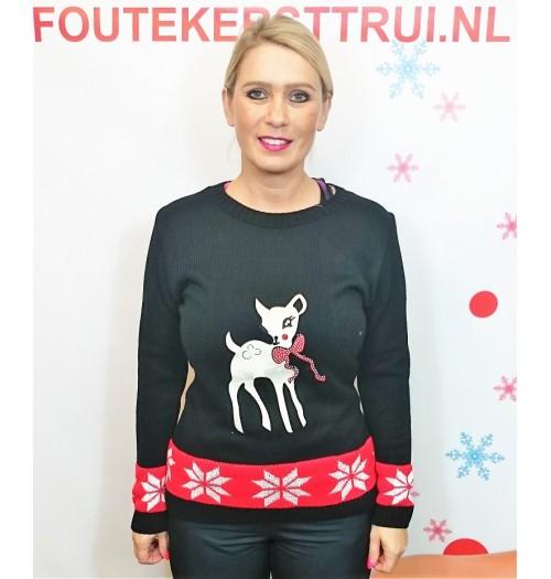 Kersttrui model Glitter Bambi