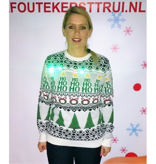 Kersttrui model Wrapping Jumper creme