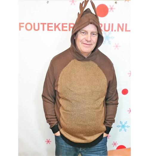 Kersttrui model Reindeer Hoody