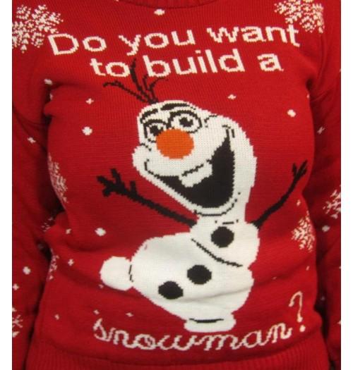 Frozen Kersttrui.Kersttrui Model Do You Want Wit
