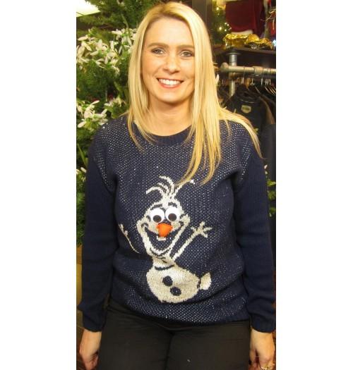 Frozen Kersttrui.Kersttrui Model Jumpsnow Blauw