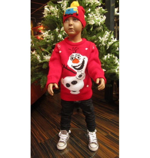 Kersttrui Olaf.Kersttrui Model Olaf Kid