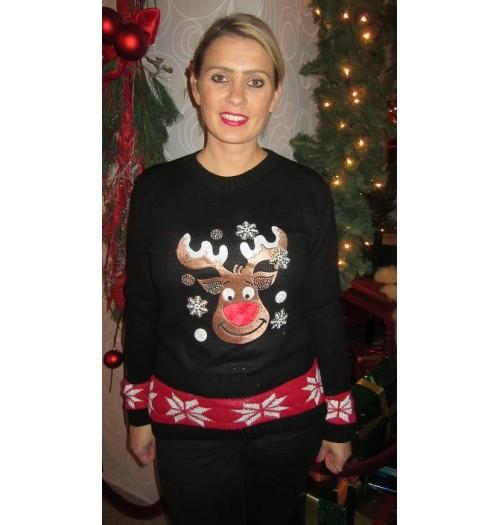 Kersttrui Hert.Kersttrui Model Glitter Hert Kiekeboe