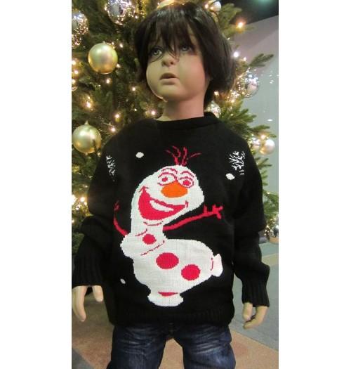 Kersttrui Olaf.Kersttrui Model How Zwart